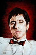 Al Pacino Framed Prints - Al Pacino Scarface Framed Print by Mark Baker