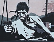Tony Montana Framed Prints - Al Pacino - Scarface Framed Print by Shirl Theis