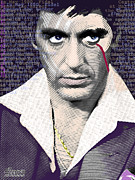 Movie Mixed Media Originals - Al Pacino by Tony Rubino