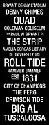Alabama Crimson Tide Prints - Alabama College Town Wall Art Print by Replay Photos