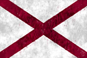 Alabama Posters - Alabama Flag Poster by World Art Prints And Designs