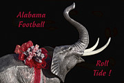 Crimson Tide Posters - Alabama Football Roll Tide Poster by Kathy Clark