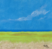 Shores Paintings - Alabama Gulf Coast 1 by Paul Gaj