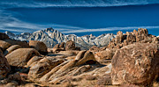 Rocks Prints - Alabama Hills and Mt. Whitney Print by Cat Connor