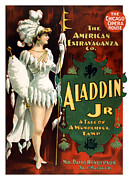 Burlesque Painting Metal Prints - Aladdin Jr Amazon Metal Print by Terry Reynoldson