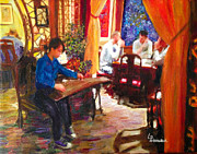 Villa Paintings - Alameda China Villa  by Linda Weinstock
