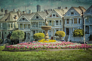 Homes Posters - Alamo Square Poster by Erik Brede