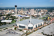 Tower Of The Americas Photos - Alamodome Aerial San Antonio Texas by Bill Cobb
