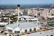 Tower Of The Americas Photos - Alamodome in San Antonio Texas by Bill Cobb