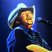 Singer Painting Prints - Alan Jackson Print by Paul  Meijering