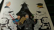 Cartoonist Drawings - Alan Premel Star Wars Vader by Alan  Premel