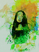 Rock Music Prints - Alanis Morissette Print by Irina  March