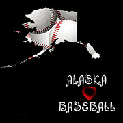 Baseball Art Mixed Media - Alaska Loves Baseball by Andee Photography