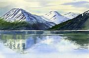 Alaska Mountain Reflections Print by Sharon Freeman