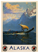Sailing Posters Prints - Alaska Print by Nomad Art And  Design