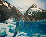 Portage Painting Prints - Alaska Reflections Print by Sharon Duguay