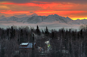 Sunrise Photos - Alaska Workday by Ron Day