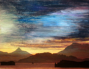 Kodiak Mixed Media Prints - Alaskan Evening Print by R Kyllo