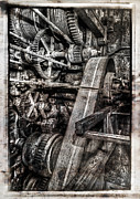 Gold Belt Prints - Alaskan Gold-dredge Bucket Gear Train Print by Daniel Hagerman
