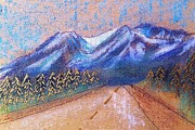 Country Road Mixed Media Prints - Alaskan Highway Print by Sarah Vandenbusch