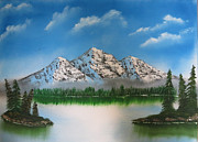 Landscape With Mountains Originals - Alaskan mountains by Razin Arts