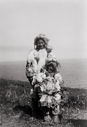 Indian Headdress Prints - Alaskan Nunivak Indians Print by The  Vault