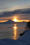 Alaskan Sunset Print by Rick  Monyahan