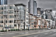 Seattle Skyline Art - Alaskan Way by Spencer McDonald
