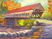 Covered Bridge Originals - Albany Covered Bridge #49 by Elaine Farmer