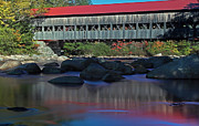 New England Fall Photos Prints - Albany Covered Bridge Print by Juergen Roth