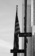 Wtc Center Digital Art Metal Prints - ALBANY STREET in BLACK AND WHITE Metal Print by Rob Hans