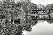 Shrimp Boat Prints - Albergottie Creek Trestle Print by Scott Hansen