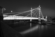 Chelsea Prints - Albert Bridge at night  Print by David French