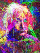Mechanics Digital Art Metal Prints - Albert Einstein 20130615 Metal Print by Wingsdomain Art and Photography