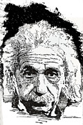 Albert Drawing Drawings Posters - Albert Einstein Poster by Jerrett Dornbusch