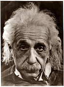 Genius Framed Prints - Albert Einstein Framed Print by Unknown