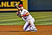 Albert Pujols Framed Prints - Albert Pujols Framed Print by Florian Rodarte