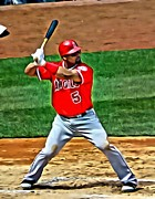 Albert Pujols Framed Prints - Albert Pujols Painting Framed Print by Florian Rodarte