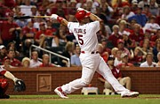 Albert Framed Prints - Albert Pujols Poster Framed Print by Sanely Great