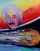 Planet System Paintings - Albert Remebered by Robin Kirkpatrick
