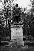 Berlin Germany Framed Prints - Albrecht Theodor Emil Graf von Roon prussian soldier memorial statue tiergarten Berlin Germany Framed Print by Joe Fox