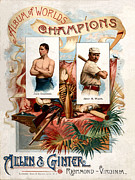 Jack Dempsey Framed Prints - Album of Worlds Champions Framed Print by Unknown