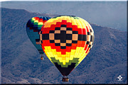 New Mexico Prints - Albuquerque Balloon Fiesta Print by Tony Lopez
