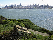 Alcatraz Island Prints - ALCATRAZ and SAN FRANCISCO Print by Daniel Hagerman