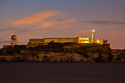 Alcatraz Metal Prints - Alcatraz at Sunrise  Metal Print by John McGraw