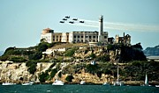 Blue Angels Framed Prints - Alcatraz Blues Framed Print by Benjamin Yeager