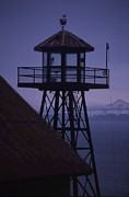Watch Tower Framed Prints - Alcatraz Framed Print by Julia and David Bowman