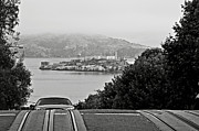 Tram Prints - Alcatraz Island from Hyde Street in San Francisco Print by RicardMN Photography