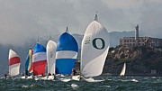 Alcatraz Island Photos - Alcatraz Spinnakers by Steven Lapkin
