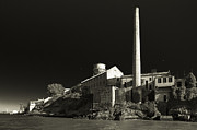 Alcatraz Stack Sepia Print by Scott Campbell